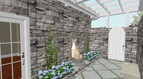 Private Garden off Master Bedroom