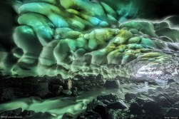 Ice Cave Near The Mutnovsky Volcano