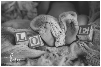 Love with Feet and Blocks