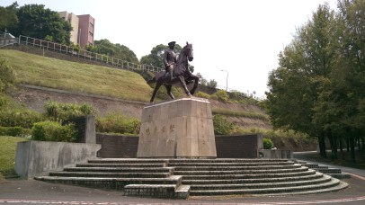 The monument of Chiang Kai-shek, the founder of the school