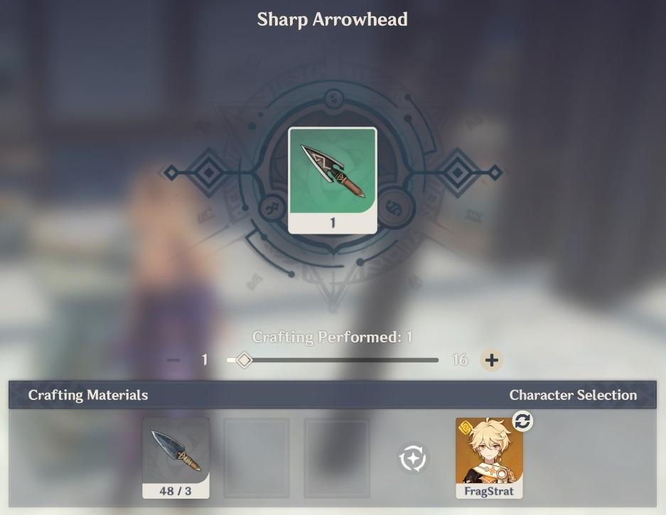 sharp arrowhead crafting