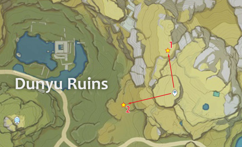 Dunyu Ruins Geovishap Locations