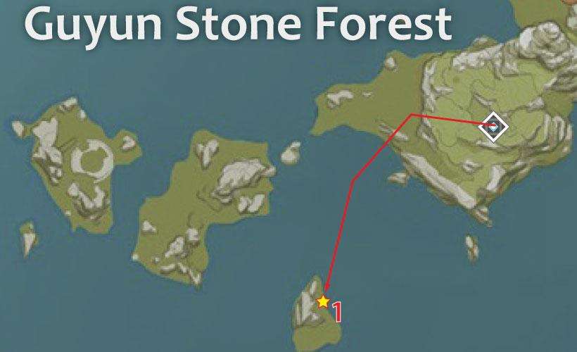 Guyun Stone Forest Geovishap-Locations