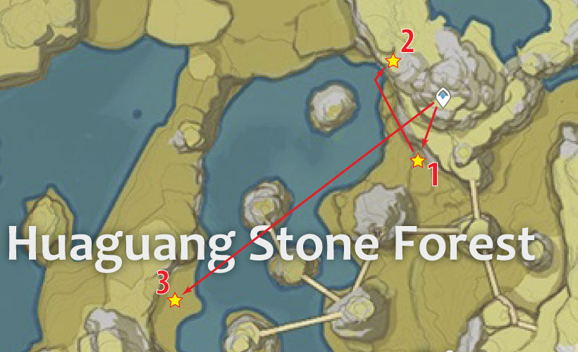 Huaguang Stone Forest Geovishap Locations