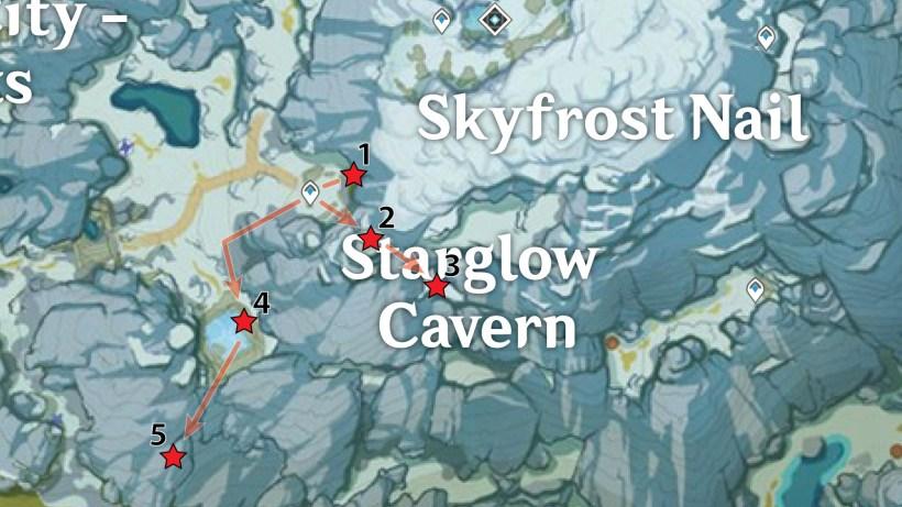Starglow Cavern Crimson Agate Locations