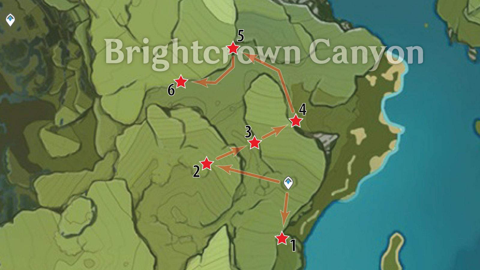 Brightcrown Canyon White Iron Farm Route