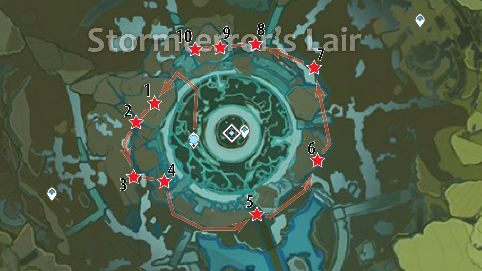 Stormterror's Lair Crystal Chunk Farming Route