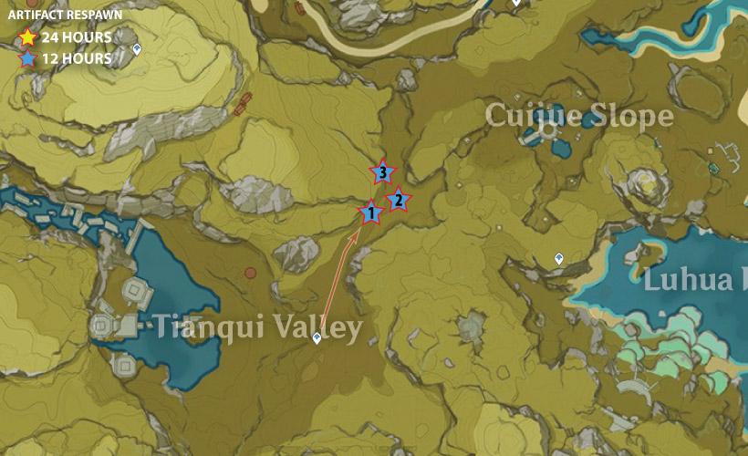 artifact farming route genshin