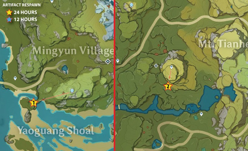 genshin artifact farming route