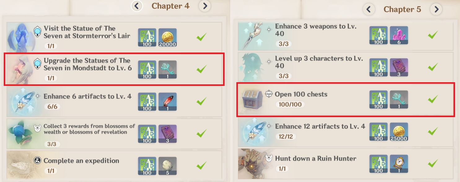 adventure handbook key rewards