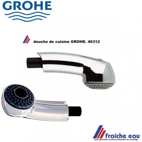 touchette de mitigeur de cuisine grohe 46312 douche extractible a 2 jets pour robinet de cuisine remplace l ancien modele