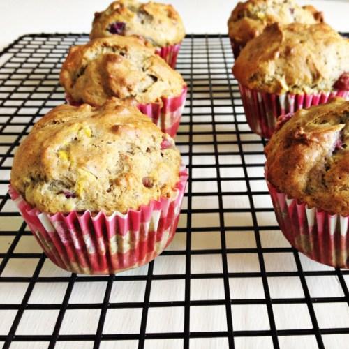 Peach Raspberry Muffins (Gluten-Free)