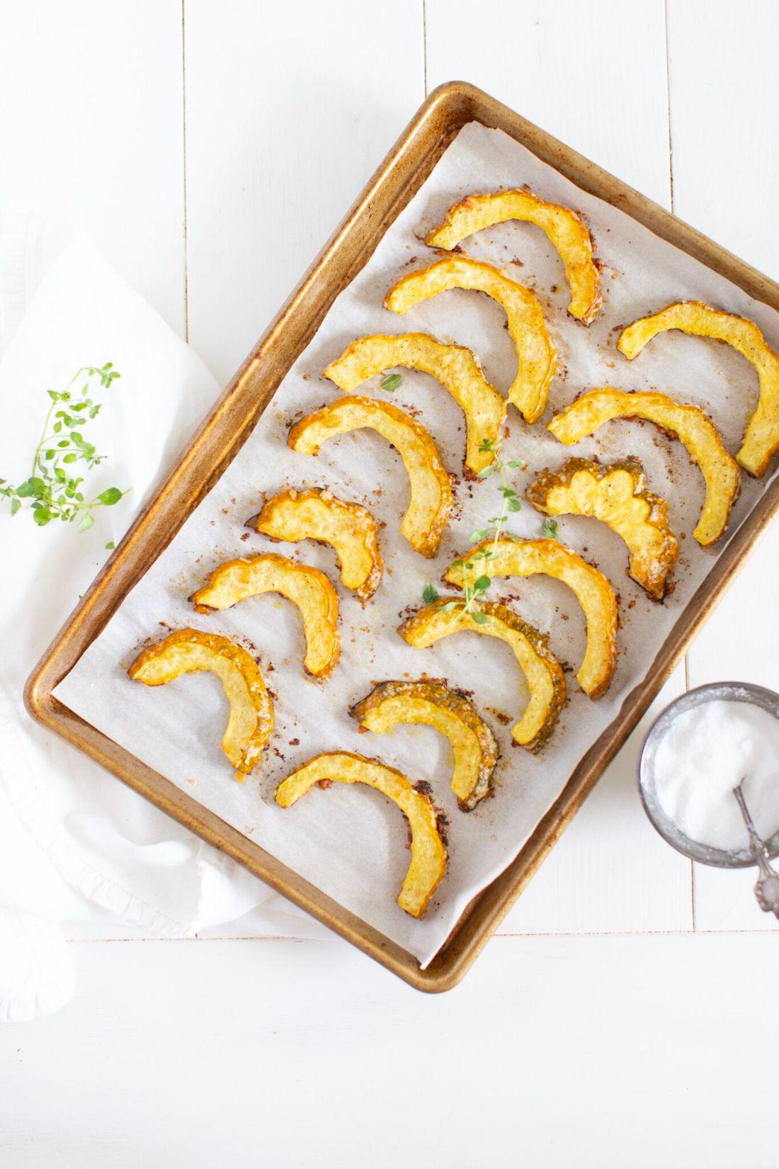 Parmesan Roasted Acorn Squash - gluten free