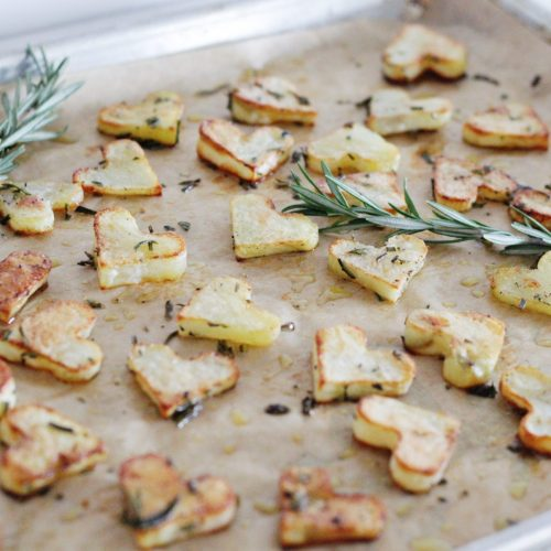 Heart-Shaped Rosemary Oven Fries