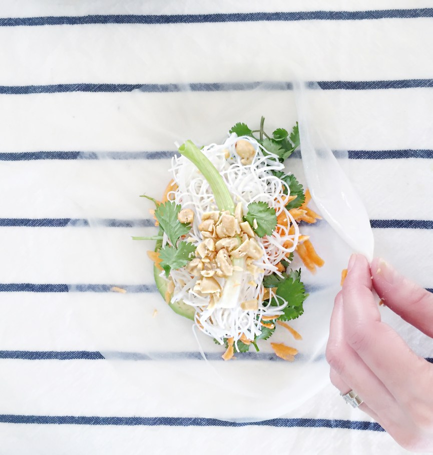 Crispy tofu spring roll