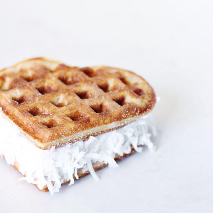 Vanilla Buttermilk Waffle ice cream sandwich