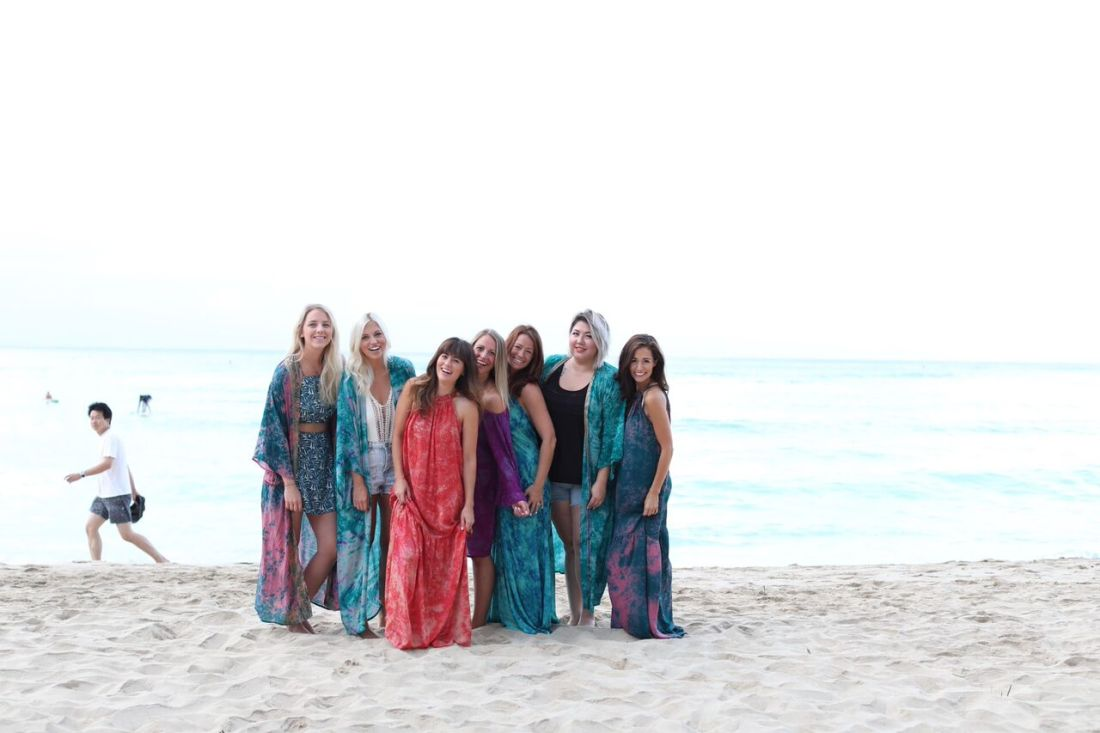 Girl's trip to O'ahu frolicking the beaches of Honolulu like a bunch of gypsies