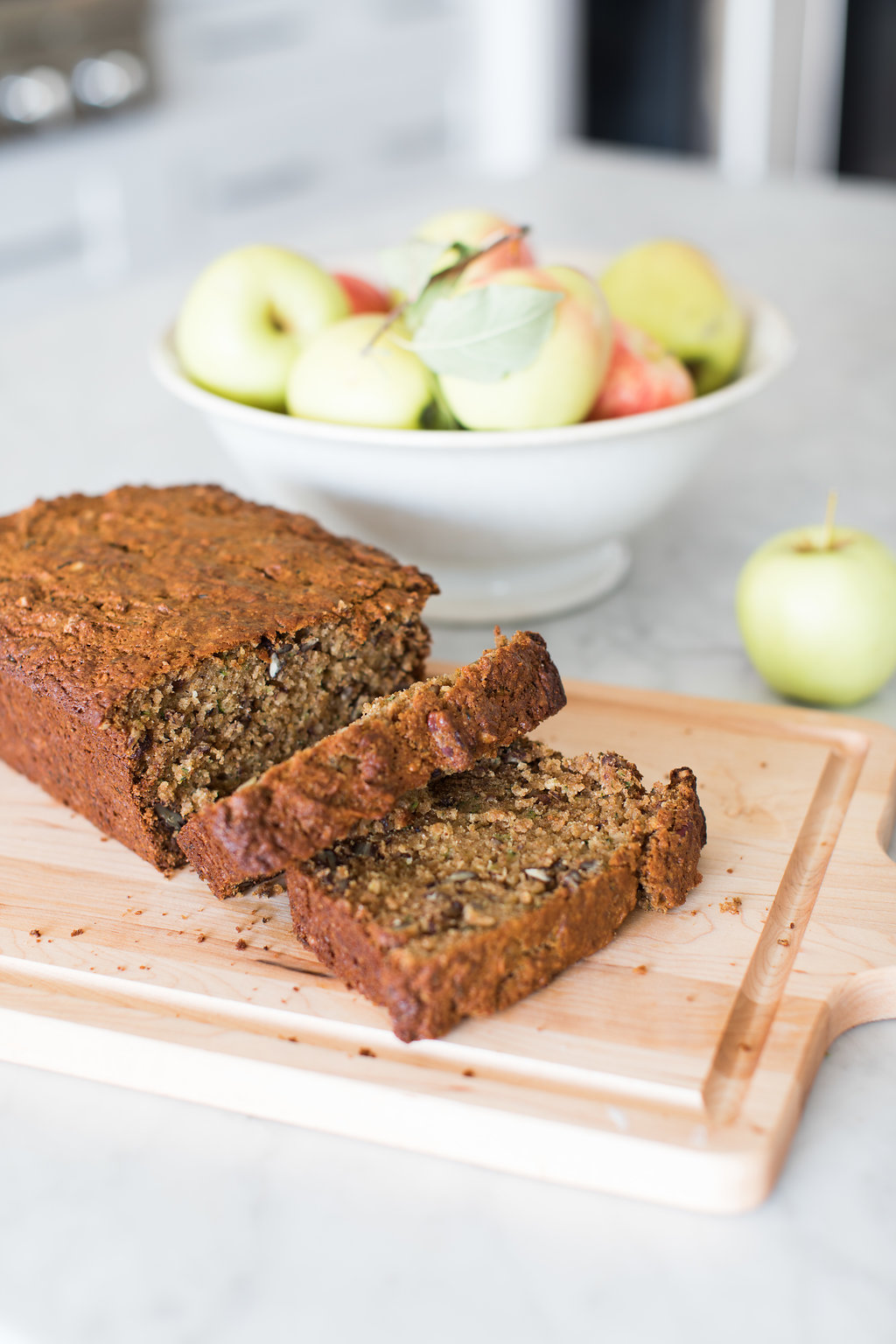 Registered Dietitian Tori Wesszer shows you how to make zucchini apple bread that the whole family will LOVE!