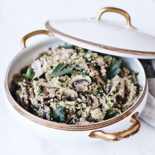Mushroom Quinoa Pilaf (Gluten-Free & Vegan)