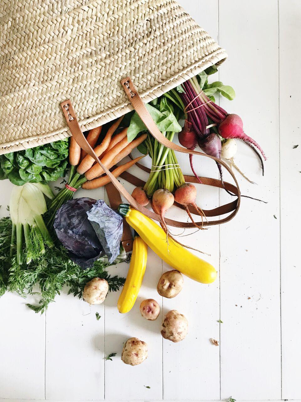 Farmer's Basket full of veggies - so healthy!
