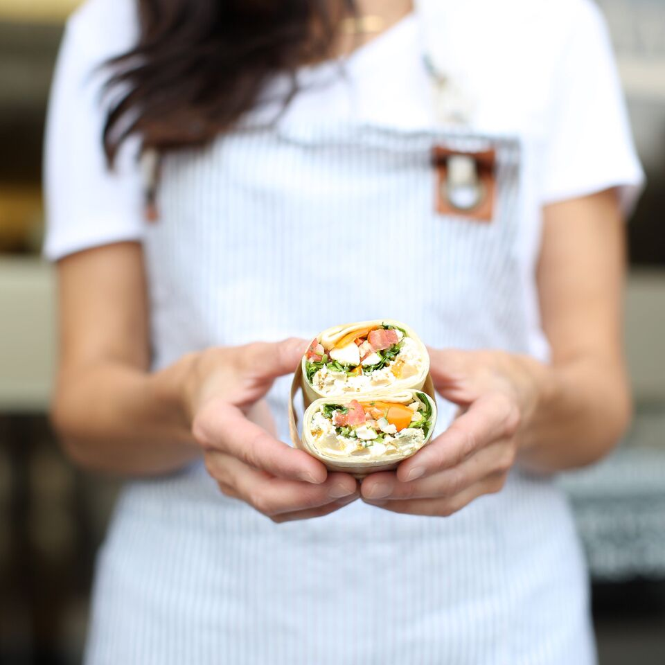 Make-ahead Egg White Breakfast Wrap from Fraiche Nutrition