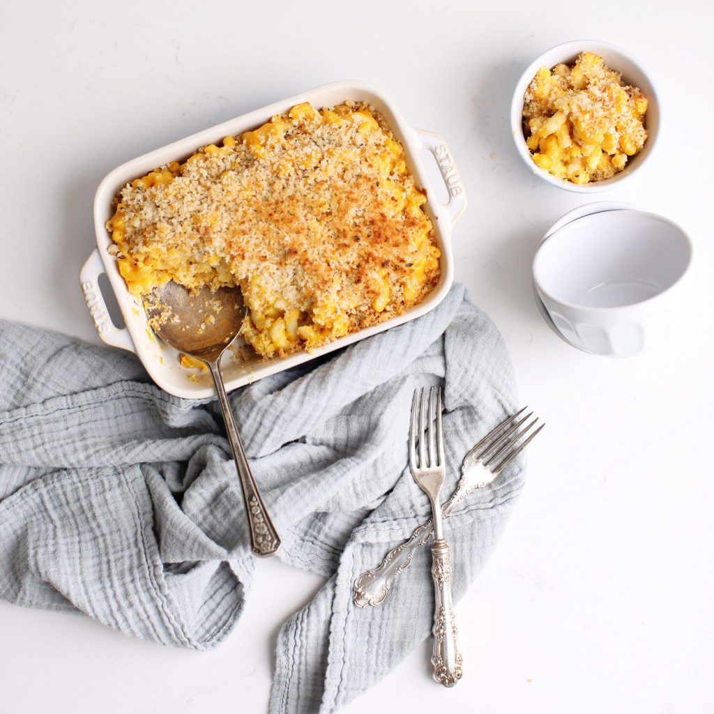Butternut Squash Macaroni and Cheese made in a blender - so easy with extra nutrition thanks to the squash that is hidden in the sauce!