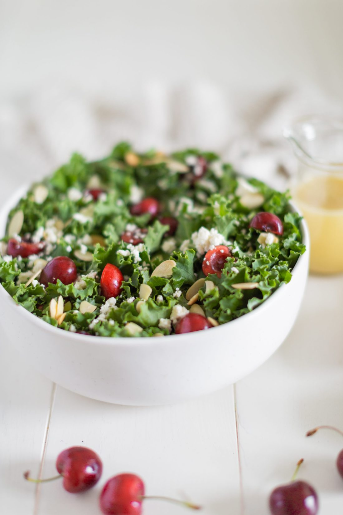 Kale salad with Okanagan summer fruit - healthy and so delicious!
