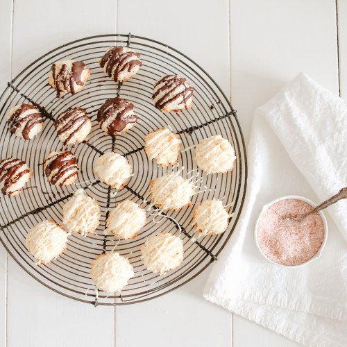 Salted Chocolate Coconut Macaroons