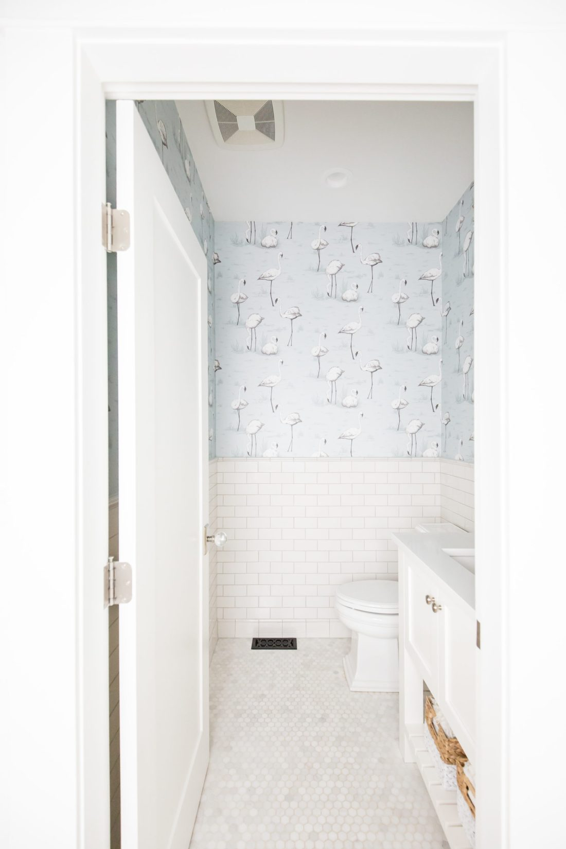 Dreamy powder room renovation