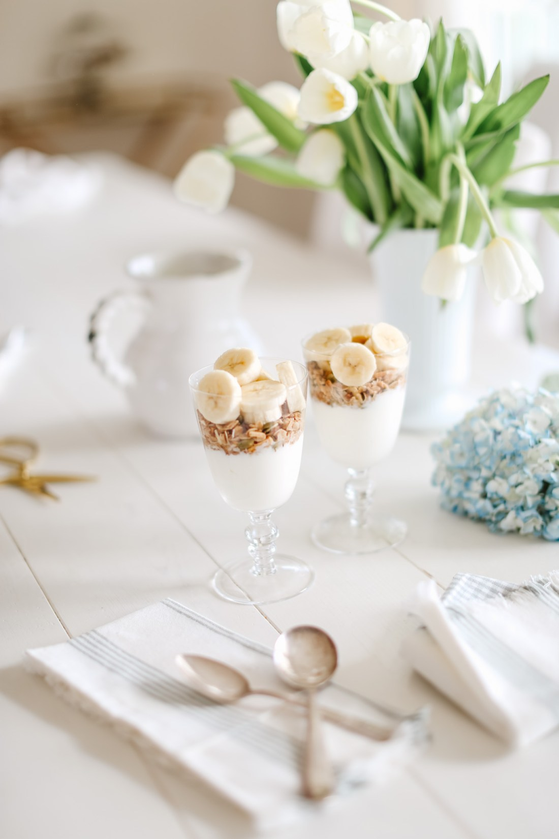 Banana Parfaits from the Fraiche at Home Meal Plan