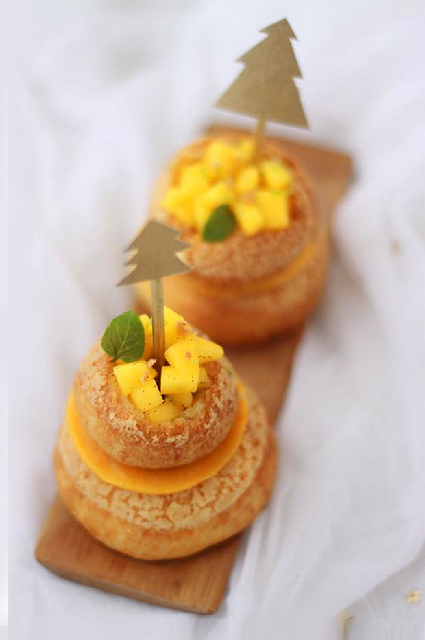 Religieuse-vanille-mangue