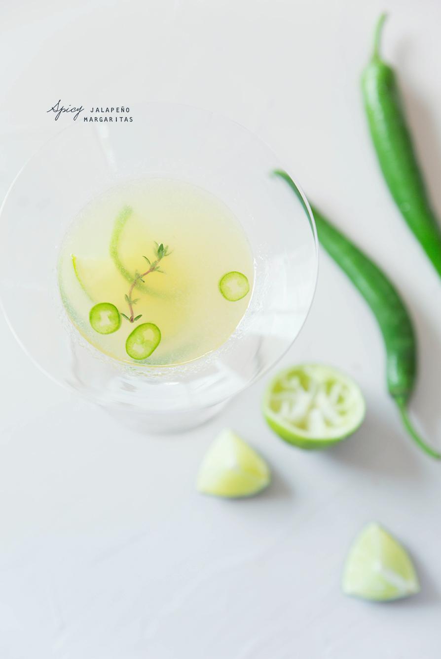 Spicy Jalapeno Margaritas ©Fraise & Basilic