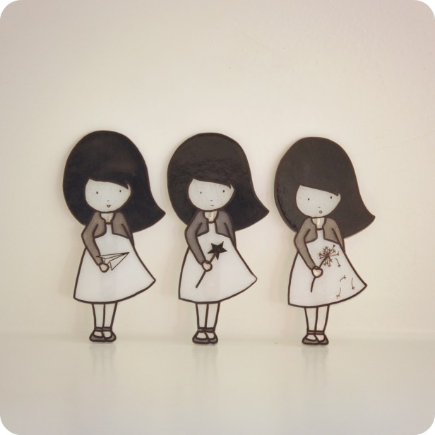 Broches fillettes