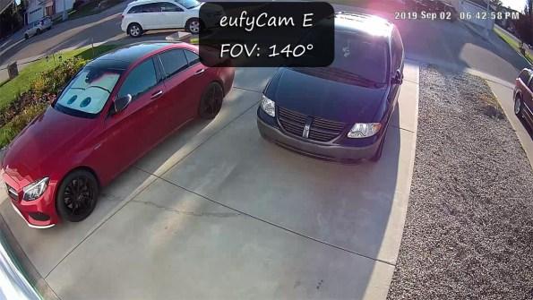 eufyCam E Field of View - 140º FOV