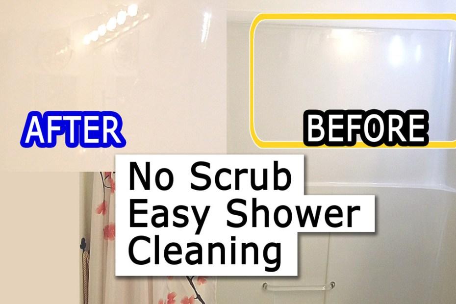Blog_DIY_How to clean shower bathtub & curtain soap scum & deposits - Fast Easy NO scrub bathroom lifehack DIY