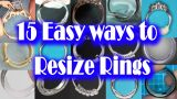 Need to Resize a Ring?  Easy Ways + 2 you never heard of - How to make ring fit DIY Lifehacks