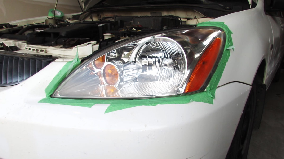 Completed headlight restoration