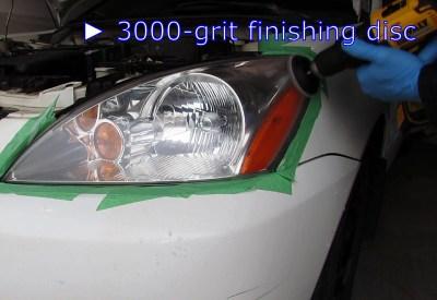 Finishing smear repairs using 3000-grit sanding disc