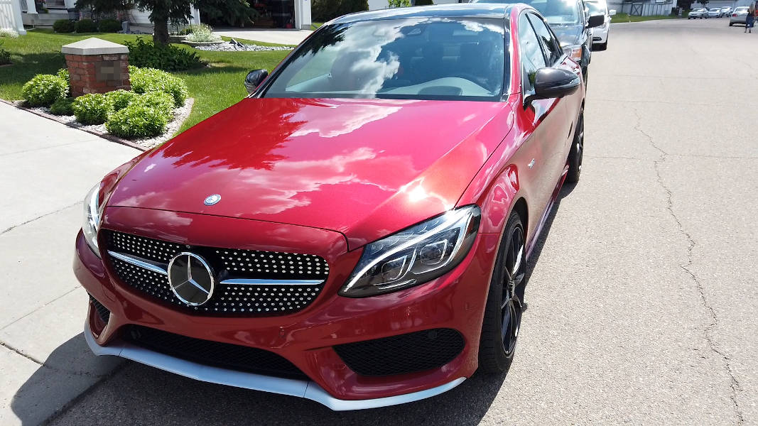Washed and waxed 2016 Mercedes-Benz C450 AMG C-Class