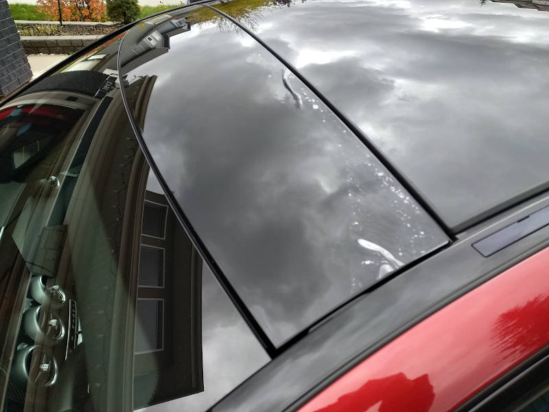 Paint protection film lifted due to high-pressure spray wand