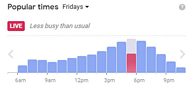 Google popular times for a business