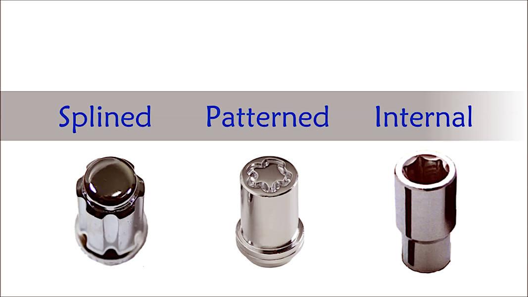Three common wheel lock types