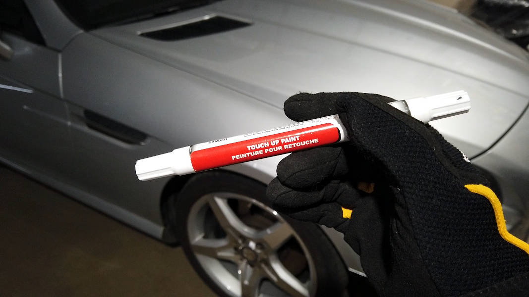 Typical Paint pen used for paint chip and scratch repairs