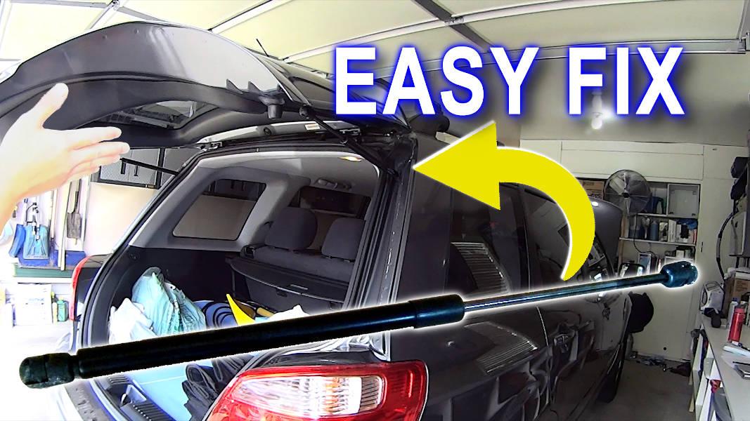 Blog_Cars_Easy Cheap Hatch Hood Trunk Fix – Fast Gas Strut Lift Support replacement DIY