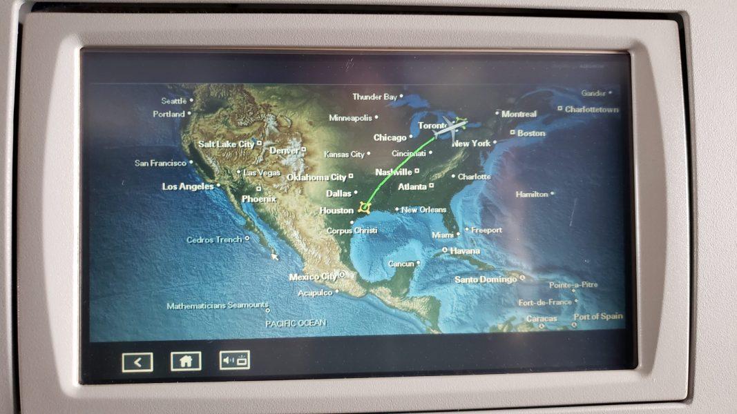 Airplane display screen