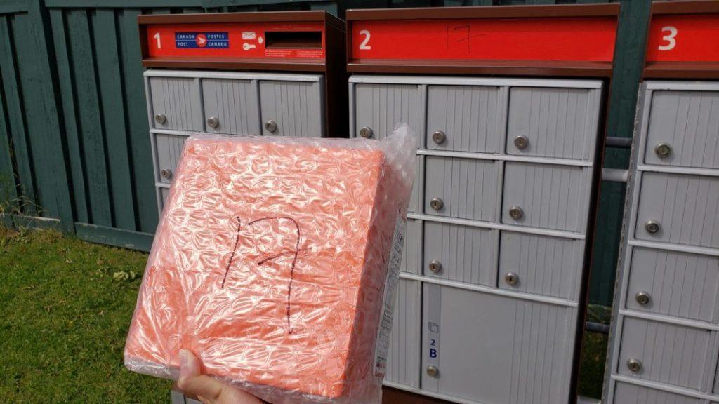 Bokksu at Canada Post box