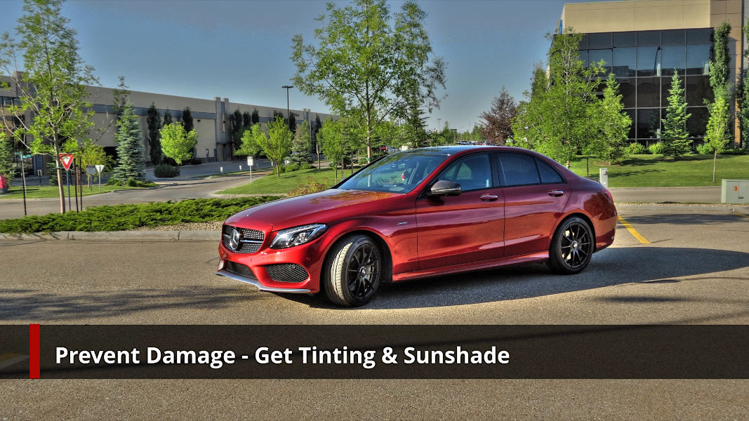 Prevent sun damage - Mercedes-Benz C450 AMG Sport with window tinting