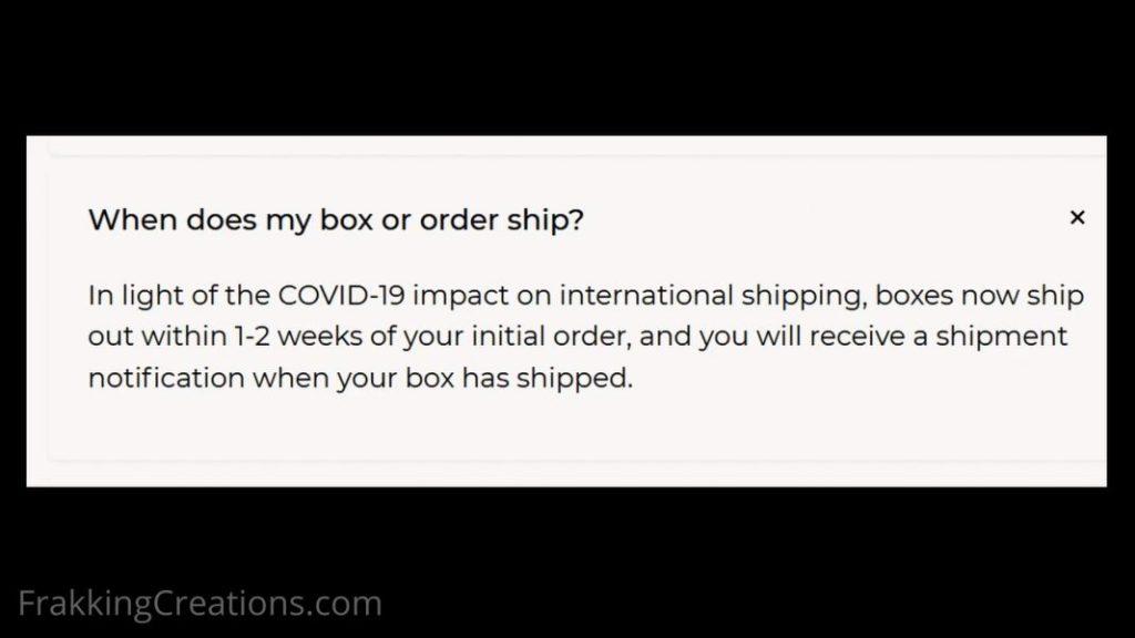 Bokksu 3_When does order ship FAQ info