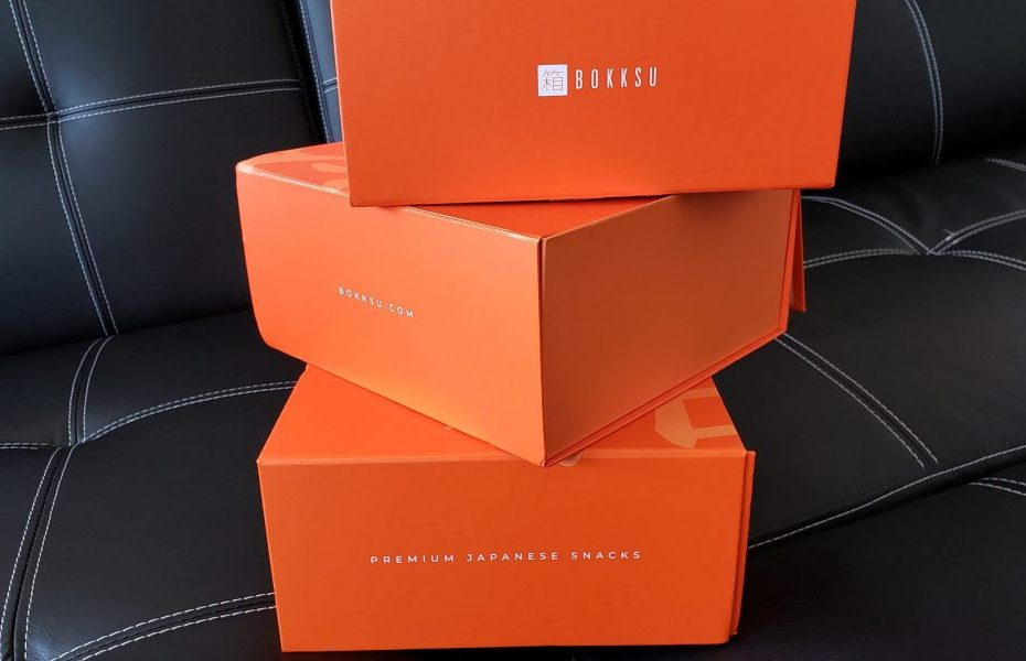 Three Bokksu Boxes stacked