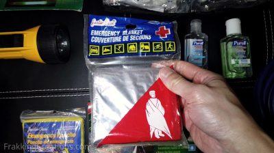 Emergency blanket for car emergency kit
